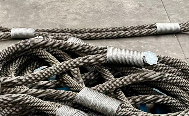Steel wire rope rings for naval industry